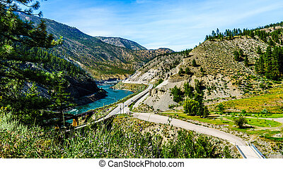 Thompson River and Trans Canada Hwy - The Thompson River and...
