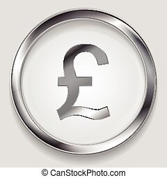 Concept metallic pound symbol logo button - Concept metallic...
