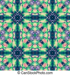 Seamless Dye Pattern with colorful tie dye technique, Fabric...