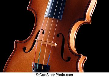 violín, detalle