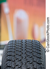 used tire textured