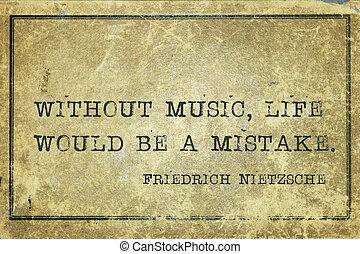 Muziek, leven, Nietzsche