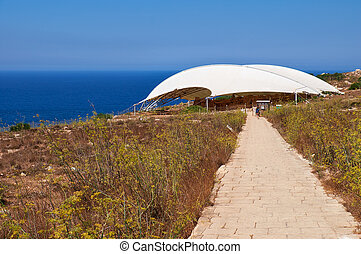 The brick road to the megalithic temple of Mnajdra Malta -...