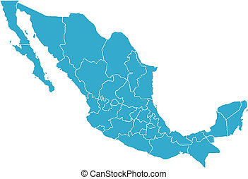 Mexico country - There is a map of Mexico country