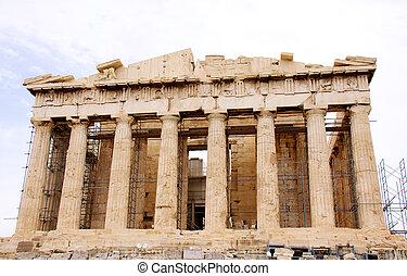 The Parthenon, in Athens Akropolis, Greece, EU