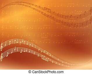 abstract bright music background - vector