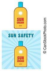Bottle Sunscreen Collection - Cartoon Bottle Sunscreen With...
