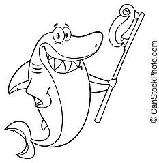 Black And White Smiling Shark