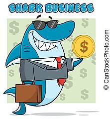 Smiling Business Shark In Suit
