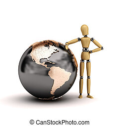 Mannequin with globe