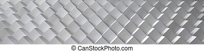 Aluminum Cubes Background (Website Head) - 3D Illustration -...