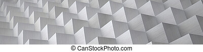 Cubic Aluminum Background (Website Head) - 3D Illustration -...