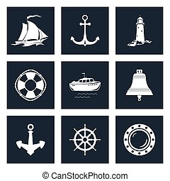 Set of Marine Icons