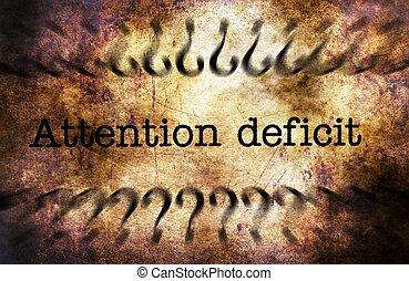 Attention deficit grunge concept