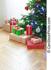 hogar, árbol, navidad