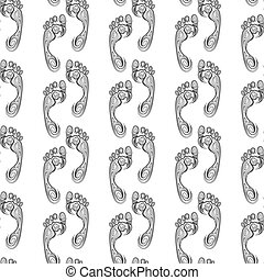 Seamless pattern with steps