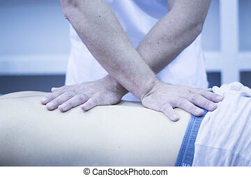 Myofascial osteopathy physiotherapy treatment by...