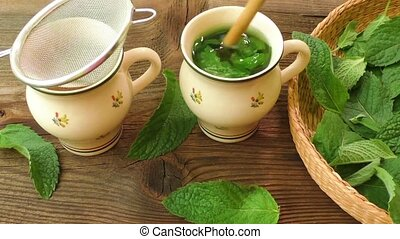 Healthy herb tea prepare