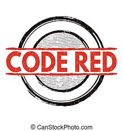 Code red sign or stamp - Code red grunge rubber stamp on...