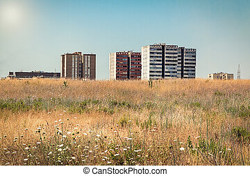 urban landscape in summer