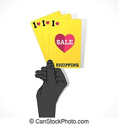 I love shopping sale banner design