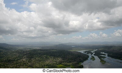 Aerial view of tropical rainforest - Aerial view of tropical...