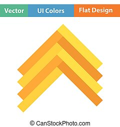 Parquet icon Flat color design Vector illustration