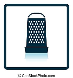Kitchen grater icon Shadow reflection design Vector...