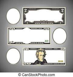 Stylized money with blank space - Stylized money with plenty...