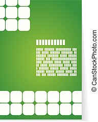 White and green background for brochure or cover