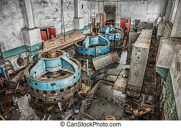 old abandoned industrial building