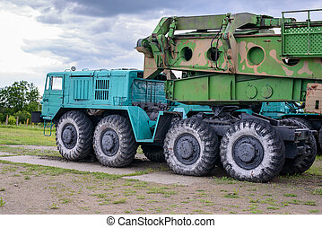 Large truck with missle carrier