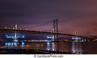 The Forth Road Bridges, Scotland