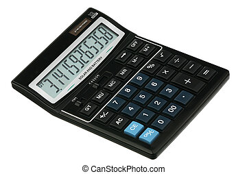 Pi constant on the display of the new black calculator