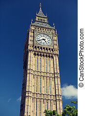 Big Ben great clock tower in London - England, London - Big...
