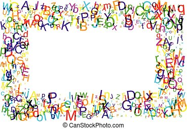 Background with letters.