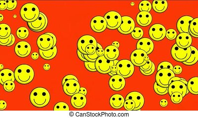 yellow smile face - Emoticon Animation: yellow smile face