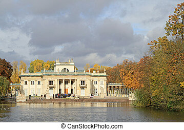 Lazienki Palace in Warsaw, autumn view - Lazienki Palace in...
