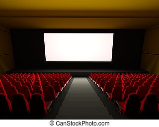 Movie Theater Seats 3d rendered image