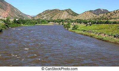 Colorado River Interstate 70 - The Colorado River as it...
