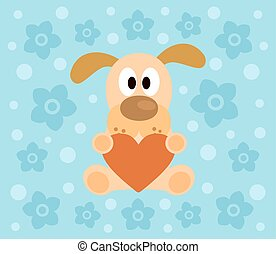 Background with dog cartoon