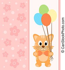 Background card with cat