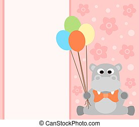 Background card with hippo