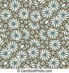 Secret Garden Stylized Floral Pattern