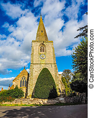 St Mary Magdalene church in Tanworth in Arden HDR - High...