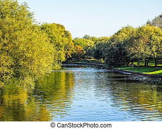 River Avon in Stratford upon Avon HDR - High dynamic range...