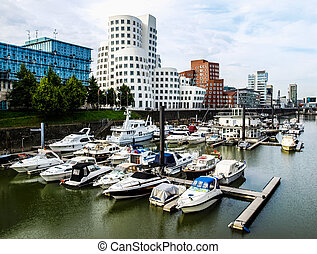 Duesseldorf harbour Germany HDR - High dynamic range HDR A...