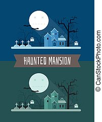 Haunted Mansion Halloween Mystic Landscape