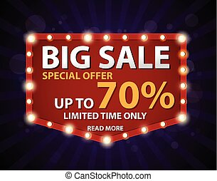 Sale banner and best offer design - Vector Illustration of...