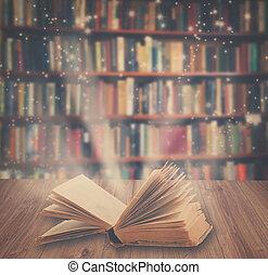 magia, libro,  Retro,  toned